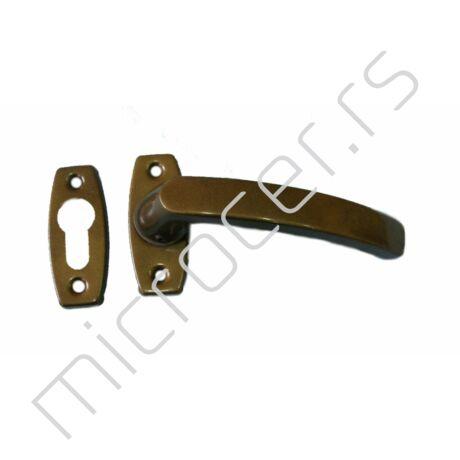Kvaka i šilt za metalna vrata - bronza R