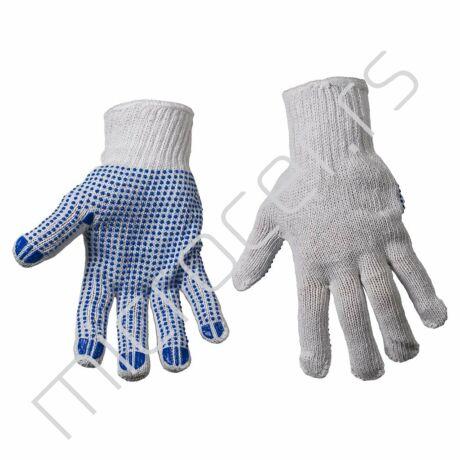 Radne rukavice pletene sa plavim tačkicama
