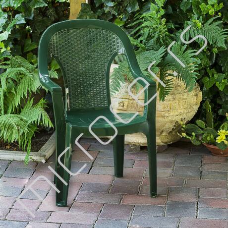 Baštenska stolica plastična visoki naslon