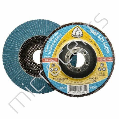 Brusni lamelni disk 115x22 P120  SMT624 Klingspor
