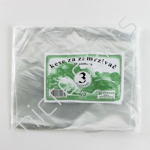 Kese za zamrzivač deblje 3kg/30