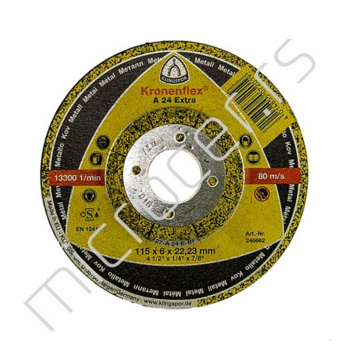 Brusna ploča 115x6x22A  EX - Klingspor