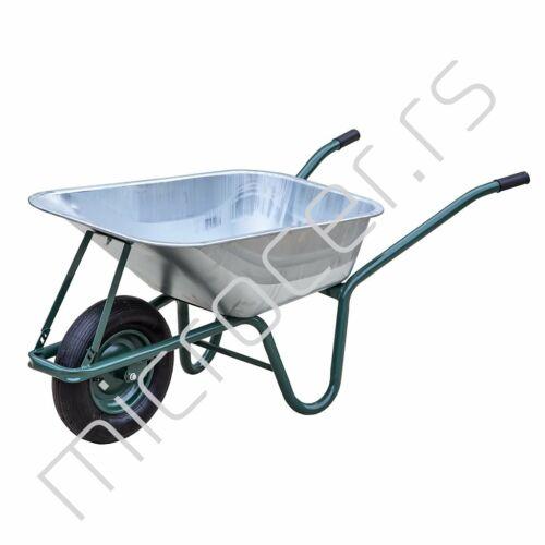 Ručna poljoprivredna kolica pocinkovani sanduk 90L